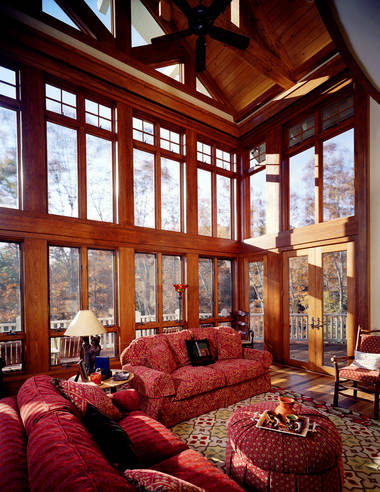 Mountain House Interior at Cliffs at Keowee Vineyards by New South Classics