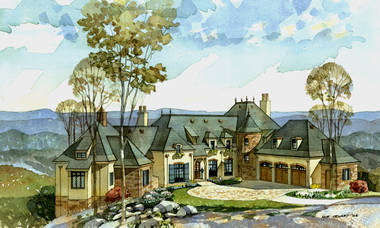 Cliffs at Glassy French Country House Plan by New South Classics