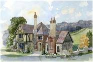 The Fireside English Cottage House Plan by New South Classics